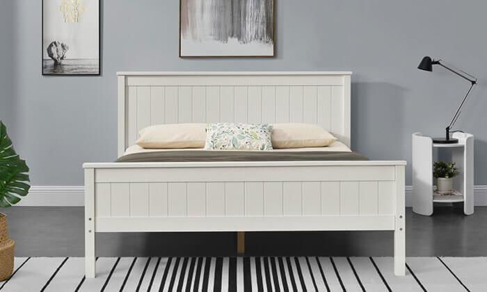 6 מיטה זוגית מעץ מלא HOME DECOR