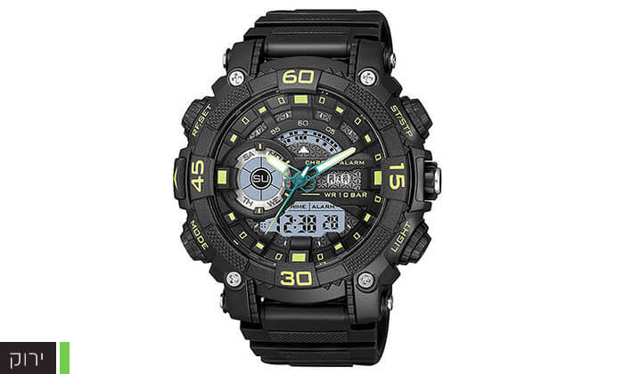 4 שעון יד דיגיטלי לגברQ&Q