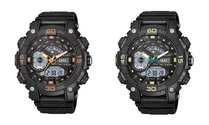 2 שעון יד דיגיטלי לגברQ&Q