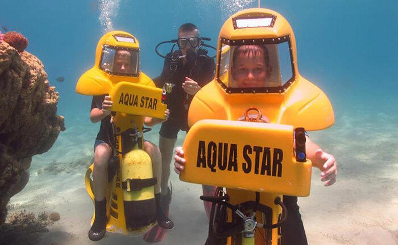 חוויית צלילה בצוללת אישית