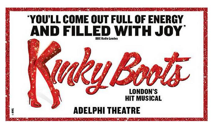 2 כרטיס למחזמר Kinky Boots בלונדון