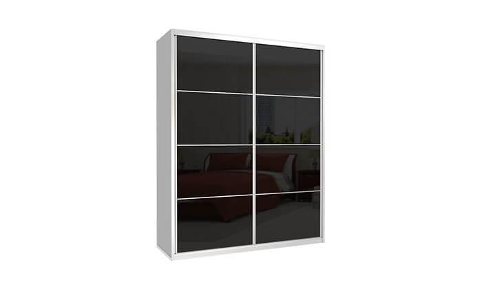 2 ארון הזזה כרמל 2 דלתות זכוכית