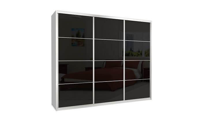 6 ארון הזזה כרמל 3 דלתות זכוכית