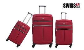 סט מזוודות בד Swiss