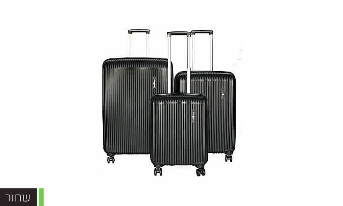 3 סט 3 מזוודות קשיחות Swiss Voyager