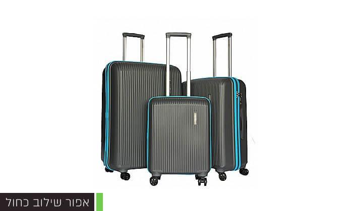 4 סט 3 מזוודות קשיחות Swiss Voyager