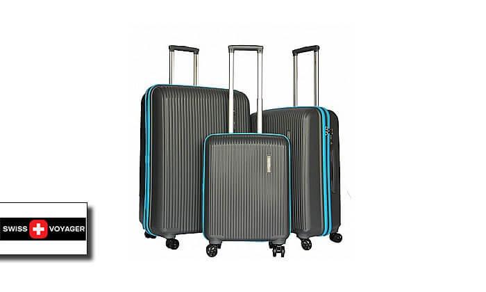 2 סט 3 מזוודות קשיחות Swiss Voyager