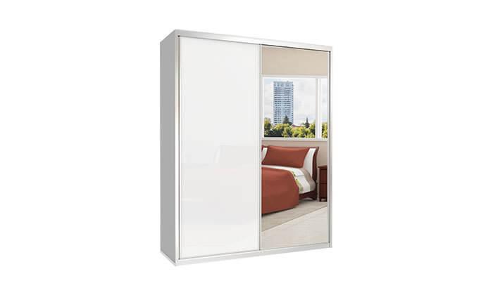 מגניב ארון הזזה כרמל, 2 דלתות זכוכית עם מראה | גרו (גרופון) AF-09