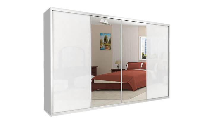 להפליא ארון הזזה כרמל, 4 דלתות זכוכית עם מראה | גרו (גרופון) ZJ-83