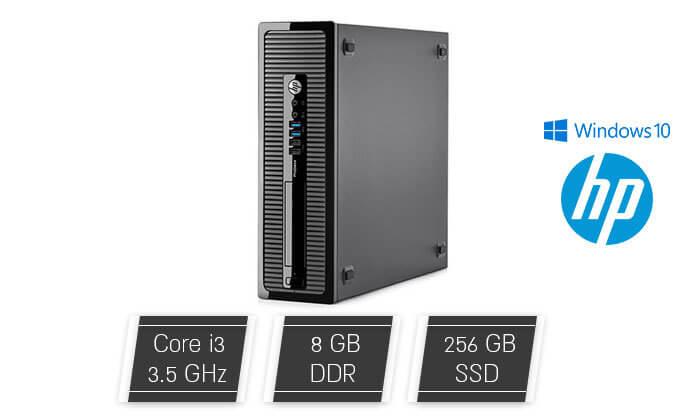 2 מחשב נייח HP עם מעבד Intel Core i3