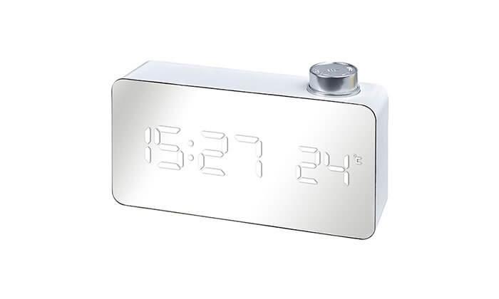 2 שעון מראה שולחני עם תצוגת LED