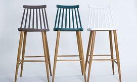כיסא בר עם משענת גב