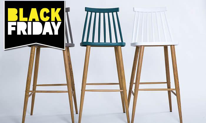 2 כיסא בר עם משענת גב
