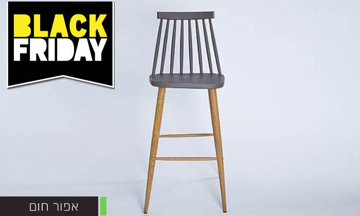 13 כיסא בר עם משענת גב