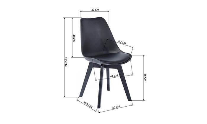 8 כסא מרופד לפינת אוכל HOMAX