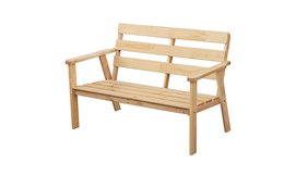 ספסל גינה מעץ מלאBRADEX