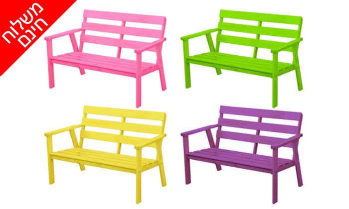 3 ספסל גינה מעץ מלא NEWPORT- משלוח חינם!