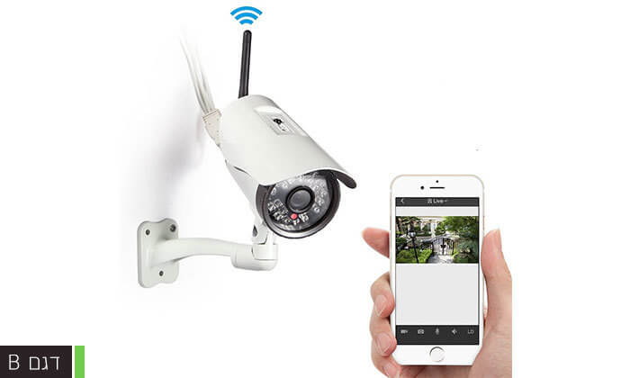 4 מצלמת אבטחה ממוגנת אלחוטית
