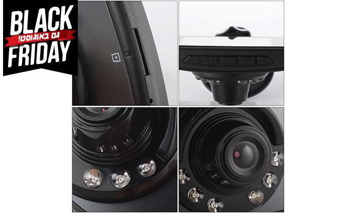 5 מצלמת דרך לרכב כולל תאורת לילה