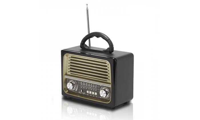 2 רמקול רדיו רטרו ניידstar shop