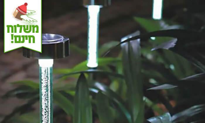 3 רביעיית דוקרני גינה עם תאורה