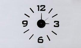 מדבקת קיר בצורת שעון עם מנגנון