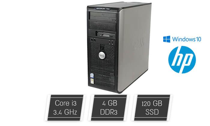 2 מחשב נייח DELL/HP/LENOVO עם מעבד i3 - משלוח חינם