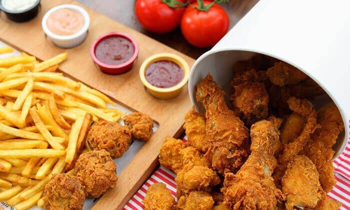 """8 ארוחה באמריקן ברוסט צ'יקן, יפו וראשל""""צ"""