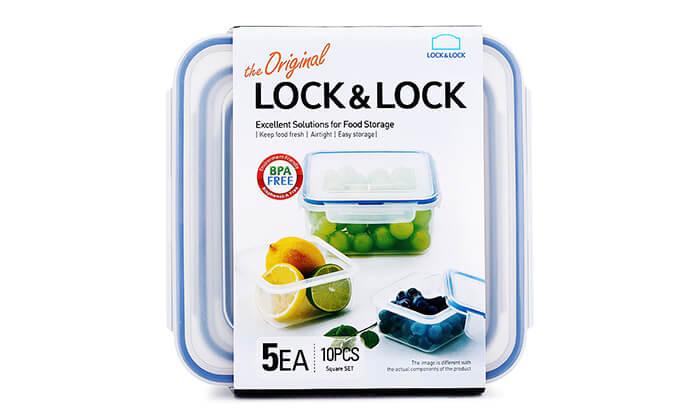 6 מארז 5 קופסאותLock and Lock