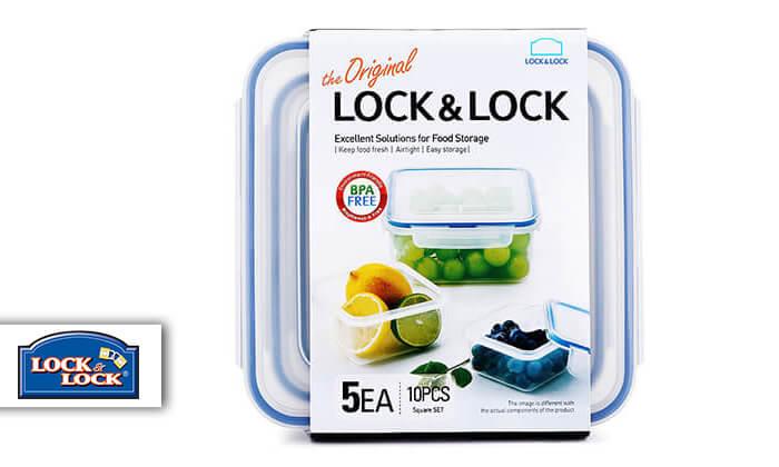 2 מארז 5 קופסאותLock and Lock