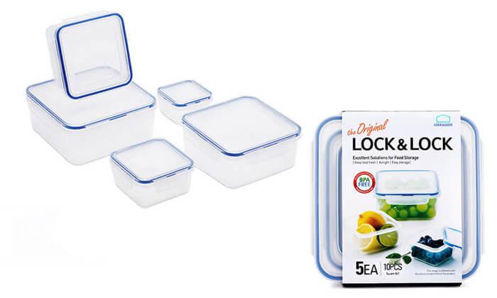 3 מארז 5 קופסאותLock and Lock