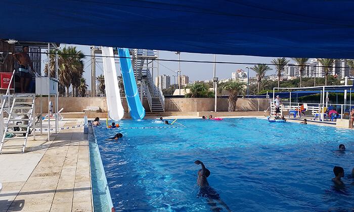 5 כרטיס כניסה לפארק המים גלי ים, בחוף הדרומי של חיפה