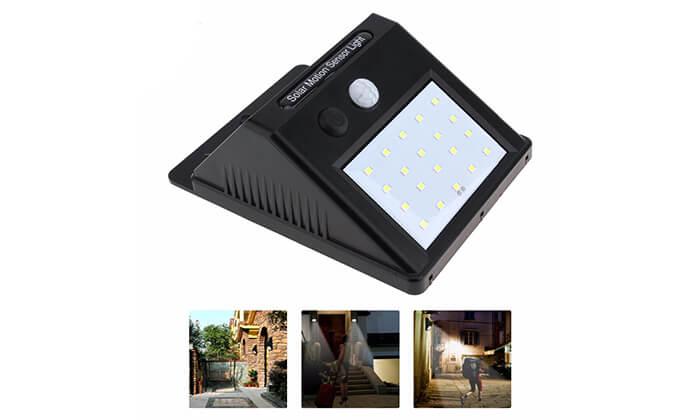 3 תאורת LED סולארית עם חיישן תנועה