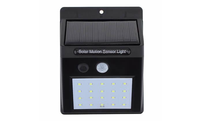 9 תאורת LED סולארית עם חיישן תנועה