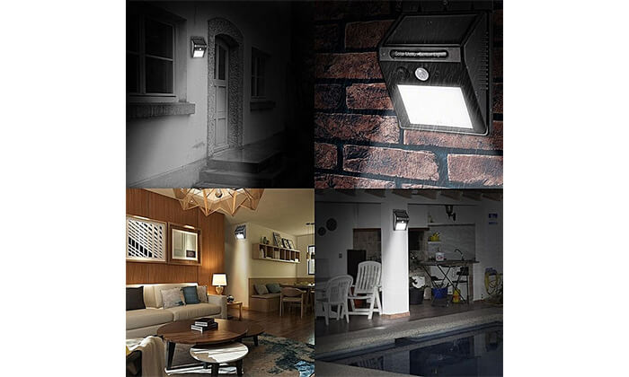 6 תאורת LED סולארית עם חיישן תנועה