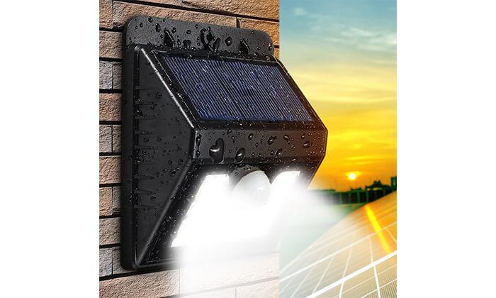 7 תאורת LED סולארית עם חיישן תנועה
