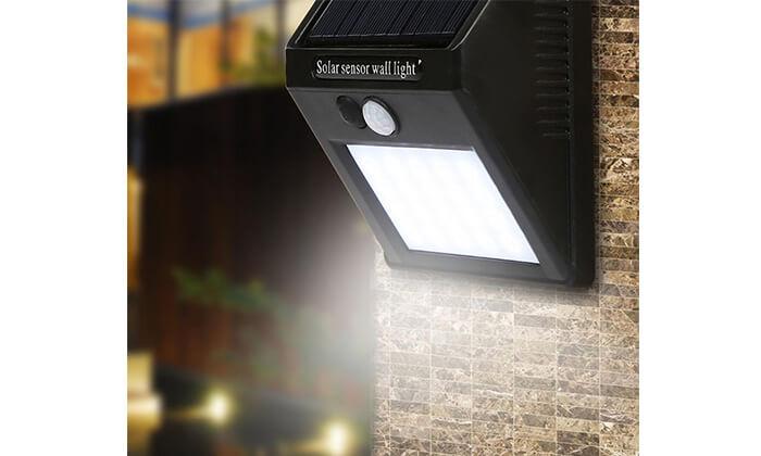 2 תאורת LED סולארית עם חיישן תנועה
