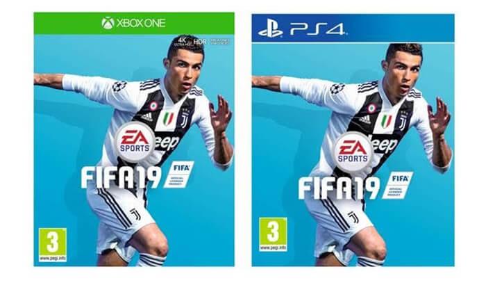2 משחק הכדורגל FIFA 19 לקונסולות - משלוח חינם!