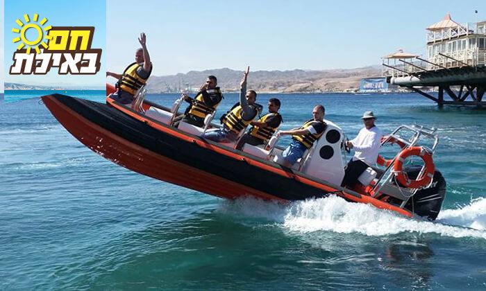 3 שייט על סירת טורנדו המהירה באילת