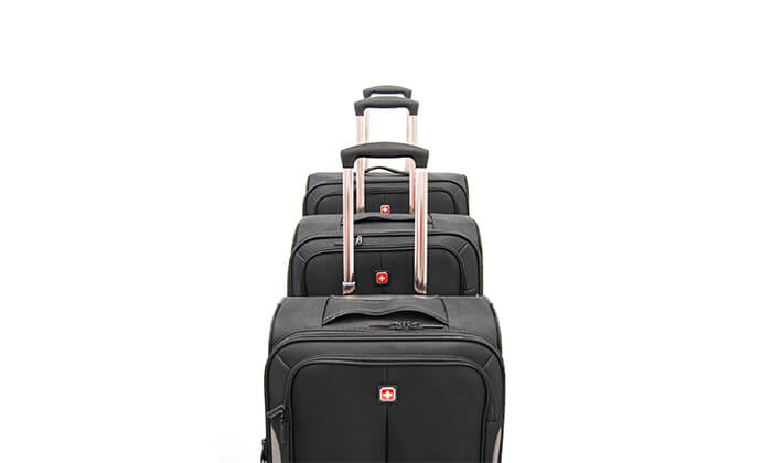 6 סט 3 מזוודות בד SWISS BRAND