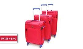 סט 3 מזוודות SWISS BRAND