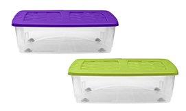 קופסאות אחסון מתחת למיטה