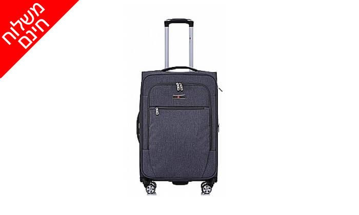 6 סט 4 מזוודות בד SWISS VOYAGER - משלוח חינם