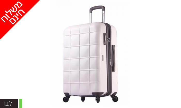 4 סט 3 מזוודות קשיחות ECHOLAC - משלוח חינם!