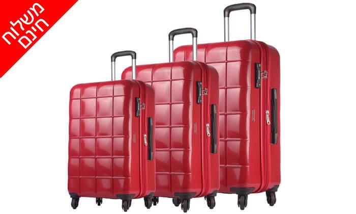 9 סט 3 מזוודות קשיחות ECHOLAC - משלוח חינם!