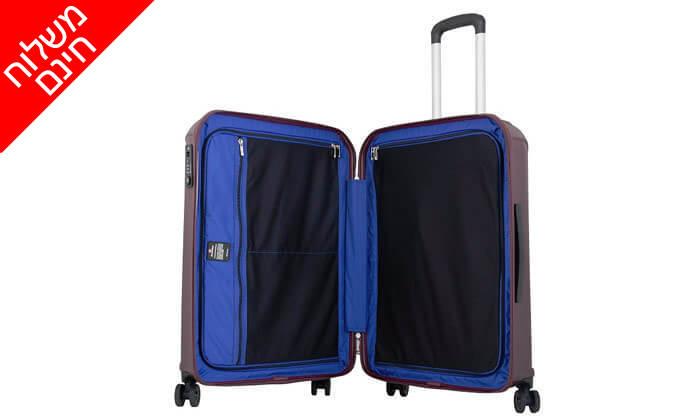 3 מזוודה קשיחה 28 אינץ' ECHOLAC - משלוח חינם!