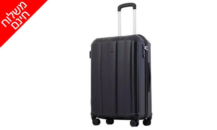 4 מזוודה קשיחה 28 אינץ' ECHOLAC - משלוח חינם!