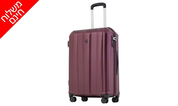 5 מזוודה קשיחה 28 אינץ' ECHOLAC - משלוח חינם!