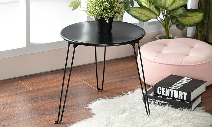 3 שולחן צד עגול