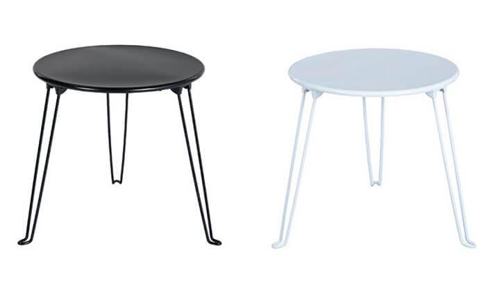 2 שולחן צד עגול